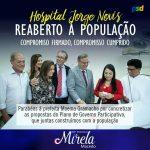 Moema, Mirela e Dr.Erasmo apresentam as novas instalações do Hospital Jorge Novis