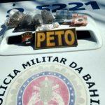 Homem é detido com drogas em troca tiros com a PM em Lauro de Freitas