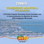 Partido Popular Socialista ( PPS ) realiza congresso em Salvador