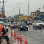 Estrada do Coco totalmente parada no início desta manhã, sentido Lauro de Freitas Centro.
