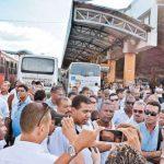 Em Lauro de Freitas, ônibus já começam a circular sem cobrador