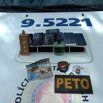 Prisão em flagrante e veículo recuperado no centro de Lauro de Freitas
