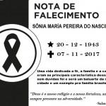 NOTA DE FALECIMENTO: SÔNIA MARIA PEREIRA DO NASCIMENTO.