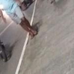 Policiais militares sofrem grave acidente de moto em frente ao Barradão