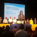 Dr. Erasmo prestigia solenidade de entrega de título de cidadã laurofreitense a Deputada Mirela Macedo