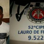 Homem é preso praticando assaltos em Vilas do Atlantico, Lauro de Freitas