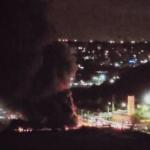 Vídeo: Incêndio destrói 48 ônibus nesta madrugada em Salvador