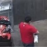 Pai joga filha recém-nascida em lata de lixo e é preso! Assista
