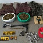 Portão: Dupla que assassinou PM é localizada com armas e drogas