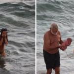 Mulher dá à luz a um filho dentro do Mar Vermelho no Egito