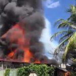 Vídeo: incêndio atinge restaurante em Morro de São Paulo