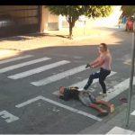 Vídeo: Mãe mata ladrão armado em frente a uma escola cheia de crianças