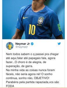 Choro de Neymar é a coisa mais patética dessa Copa