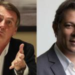 Bolsonaro vai a 33%, Haddad sobe 7 pontos e fica com 23%