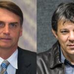 Nova pesquisa aponta Bolsonaro com 26% e Haddad subiu para 22%
