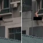 Vídeo: Amante cai do 5º andar de prédio ao fugir de marido traído