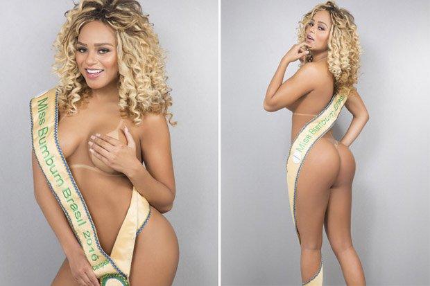 Miss Bumbum baiana Erika Canela tatua Bolsonaro