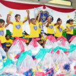 Alegria e brilho nos olhos marcam entrega de cestas da LBV na Bahia