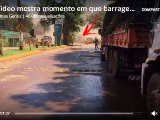 vídeo mostra momento em que a barragem rompe em Brumadinho