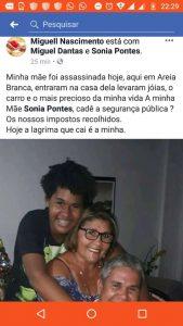Idosa de 67 anos é assassinada em Lauro de Freitas