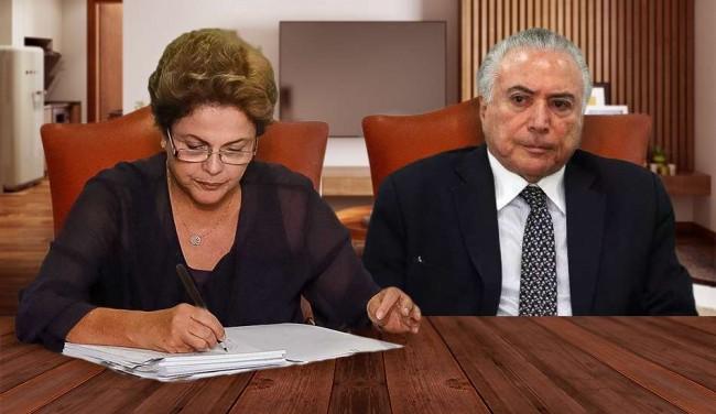 Carta de Dilma para Temer viraliza nas redes sociais