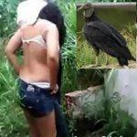 Mulher com mal cheiro na VAGINA é atacada por urubus durante relação com namorado no mato