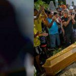 Enterro de menina morta na praia é cercado de emoção, mas detalhe gera revolta