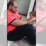Homem é flagrado batendo em um bebê! Será verdade?
