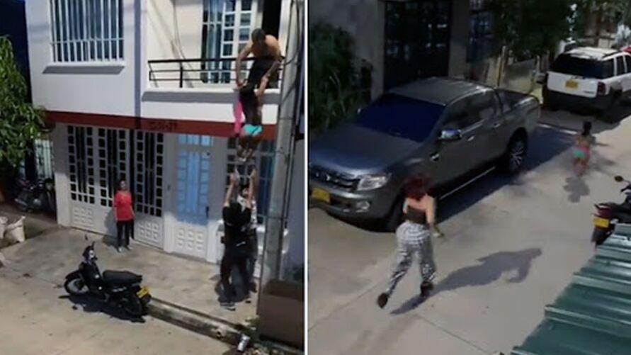 Mulher flagra traição do marido com anã